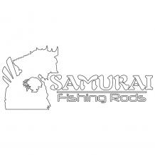 Samurai Sticker Large White